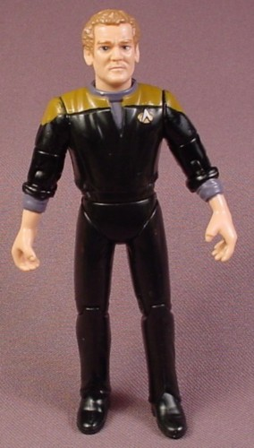 "Star Trek DS9 Chief Miles O'Brien Action Figure, 4 3/4 "" tall, 1994 Playmates, Deep Space Nine"