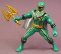 "Power Rangers Mystic Force Green Ranger PVC Figure, 3 ""  tall, 2005 Bandai"