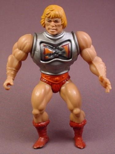 Heman Action Figure: He-Man MOTU Battle Armor He-Man Action Figure, 1984 Mattel