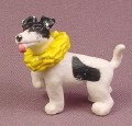 Topps Precious Puppies Black & White Dog with Yellow Frilly Collar PVC Animal Figure