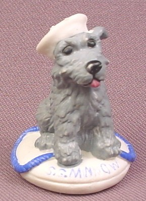 Topps Precious Puppies Dog with Sailor Hat & Lifebuoy PVC Animal Figure, Chowder, 1997