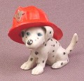 Topps Precious Puppies Dalmatian in Fire Hat PVC Animal Figure, Sparky, 1997 Topps
