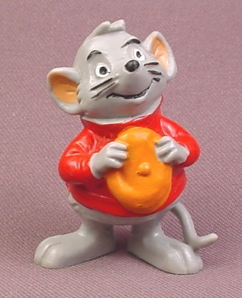 Disney The Rescuers Vintage 1984 Bernard PVC Figure, 2 3/8&quot; tall, Bully, W. Germany