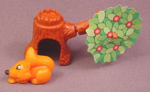 Kinder Surprise 1997  Tree with Paper Leaves & Orange Squirrel, K97N08