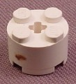 Lego 3941 White 2x2 Round Brick With Technic Center Hole, NASA, Disney, Star Wars, Belville