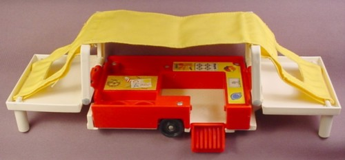 Fisher Price Vintage Pop Up Tent Camper Folding Yellow