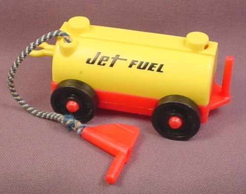 Fisher Price Vintage Yellow Amp Red Jet Fuel Car Tram Cloth