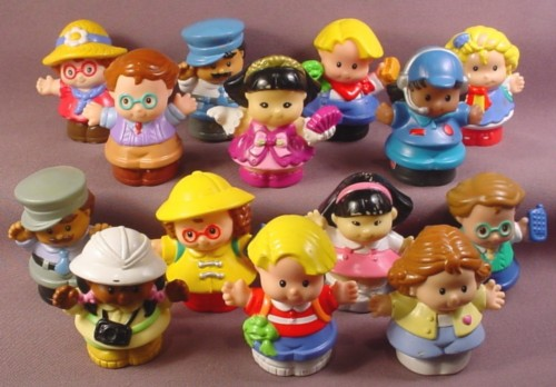 Fisher Price Lot Of 14 Modern Little People (F)