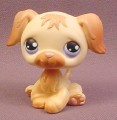 Littlest Pet Shop #268 Golden Retriever Puppy Dog with Purple Eyes, 2004 Hasbro