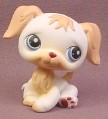 Littlest Pet Shop #140 White & Tan Golden Retriever Puppy Dog with Blue Eyes, 2004 Hasbro
