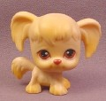 Littlest Pet Shop #26 Tan Cocker Spaniel Puppy Dog with Brown Eyes, 2004 Hasbro