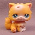 Littlest Pet Shop #153 Orange & White Persian Kitten Kitty Cat with Blue Eyes, 2004 Hasbro