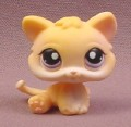 Littlest Pet Shop #248 Orange Baby Kitten Kitty Cat with Purple Eyes, 2005 Hasbro