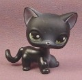 Littlest Pet Shop #336 Black Short Hair Kitten Kitty Cat with Green Eyes, 2006 Hasbro
