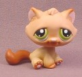 Littlest Pet Shop #194 Light & Dark Brown Kitten Kitty Cat with Green Eyes, 2004 Hasbro