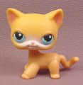 Littlest Pet Shop #71 Light Orange Short Hair Kitten Kitty Cat with Blue Eyes, 2004 Hasbro