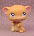 Littlest Pet Shop #324 Brown Mouse with Purple Eyes, 2006 Hasbro