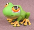 Littlest Pet Shop #50 Rainforest Tree Frog with Orange Feet & Eyes, 2005 Hasbro