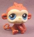 Littlest Pet Shop #351 Orange Brown Baby Boy Monkey with Blue Eyes, 2006 Hasbro
