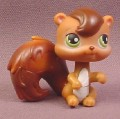 Littlest Pet Shop #195 Brown Squirrel with Green Eyes, 2005 Hasbro