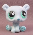 Littlest Pet Shop #646 Light Blue Polar Bear with White Snowflakes & Blue Eyes, 2007 Hasbro