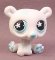 Littlest Pet Shop #647 White Polar Bear with Snowflakes & Blue Eyes, 2007 Hasbro