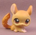 Littlest Pet Shop #340 Light Brown Tan Chinchilla with Brown Eyes, 2007 Hasbro