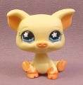 Littlest Pet Shop #475 Yellow Pig with Muddy Feet & Blue Eyes, 2006 Hasbro