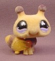 Littlest Pet Shop #656 Yellow & Brown Flocked or Fuzzy Bumble Bee, Bumblebee, Hasbro
