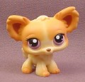Littlest Pet Shop #438 Orange Brown & Yellow Chinchilla with Violet Eyes, 2005 Hasbro