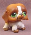 Littlest Pet Shop #335 Brown & White Saint St Bernard Puppy Dog with Green Eyes, 2006 Hasbro