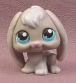 Littlest Pet Shop #346 Gray Floppy Flop Eared Bunny Rabbit with Blue Eyes, 2004 Hasbro