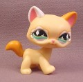 Littlest Pet Shop #626 Light Orange Fanciest Kitty Cat with Sparkles & Green Eyes, 2007 Hasbro