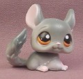 Littlest Pet Shop #144 Gray Chinchilla with Brown Eyes, 2006 Hasbro