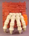 Fisher Price Imaginext Dark Red Stone Wall with Skeleton Claws That Drop Down, H5341