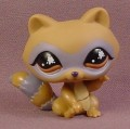 Littlest Pet Shop #652 Brown Raccoon With Gray Stripes & Mask, Brown Eyes Grey Stripes, 2006