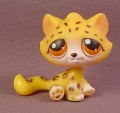 Littlest Pet Shop #388 Cheetah Jungle Cat With Orange Eyes, All Around The World Series, 2006