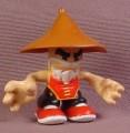 Tech Deck Dude Fu Man Finger #032, Brown Hat & Red Shirt Color Variation, 2008 Spin Master