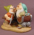 Disney Snow White Dwarfs Doc & Sleepy In Mine PVC Figure, Disney Store Lil Classics Series