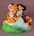 Disney Aladdin Jasmine With Raja The Tiger PVC Figure, Disney Store Lil Classics Series