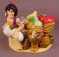 Disney Aladdin & Abu The Monkey With Crate of Food PVC Figure, Disney Store Lil Classics