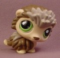 Littlest Pet Shop #1321 Gray & Brown Hedgehog With Green Eyes, 2008, Hasbro, Porcupine