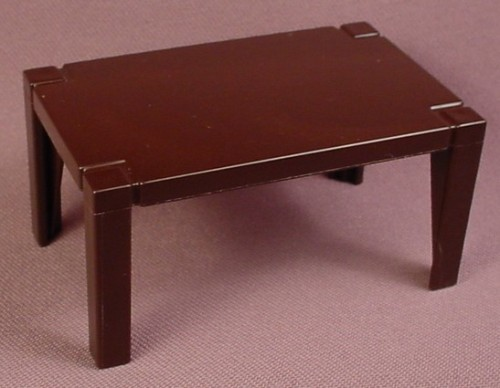 Playmobil dark brown rectangular formal dining room table for Playmobil dining room 5335