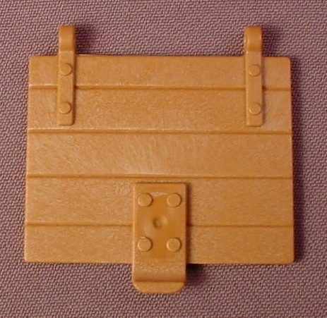 Playmobil light brown wooden trap door with 2 hinge points wood slats 3123 3268 3665 rons - Trap door hinges ...
