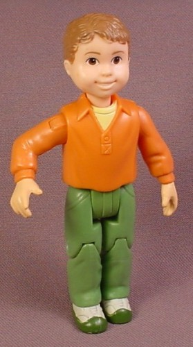Fisher Price Loving Family Dollhouse Brother Son Grandson Figure, Orange Shirt, Green Pants ...