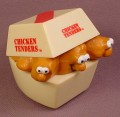 Burger King 1989 Lickety Split Rolling Racer Box Of Chicken Tenders, 2 1/8 Inches Tall