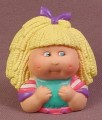 Cabbage Patch Kids Pencil Topper Figure, Blond With Purple Ribbon, Pink & Purple Shirt
