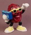 California Raisins PVC Figure With A Blue Radio & Yellow Sunglasses, 2 Inches Tall, 1988