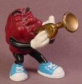 California Raisins PVC Figure Playing A Trumpet, 2 1/4 Inches Tall, 1988 Applause