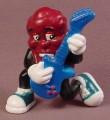 California Raisins PVC Figure Playing A Blue Electric Guitar, 2 1/4 Inches Tall, 2001